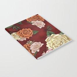 Red luxury flowers Notebook