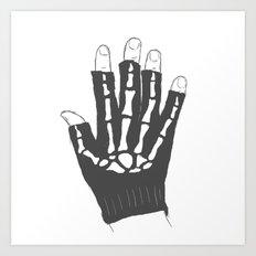 Skeleton Glove Art Print