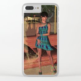 A Gingezel Sci Fi Poster of Mitra Clear iPhone Case