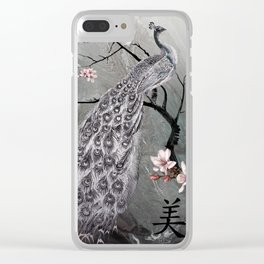 Spade's Peacock Clear iPhone Case