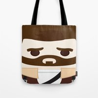 rick grimes Tote Bags featuring Rick Grimes by heartfeltdesigns by Telahmarie
