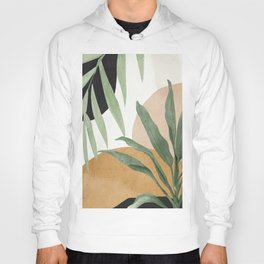 Abstract Art Tropical Leaves 4 Hoody