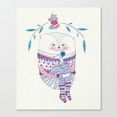 wish cat Canvas Print