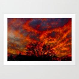 Fire Sky Art Print