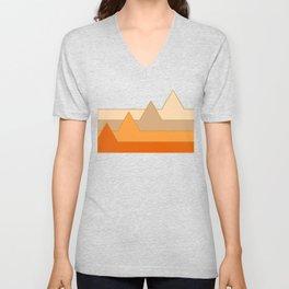 Orange Mountains #society6 #decor #buyart Unisex V-Neck
