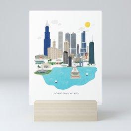 Chicago Illustration Mini Art Print