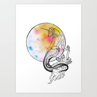Mythical Creatures  of The Sea Art Print