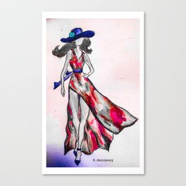 Run this Town - Red Canvas Print