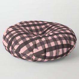 Gingham: Pink Floor Pillow
