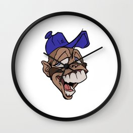 Crazy Monkey 2 Wall Clock