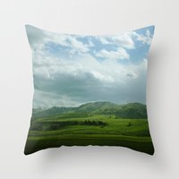 kendrick lamar Throw Pillows featuring lamar valley by Sarah Stewart