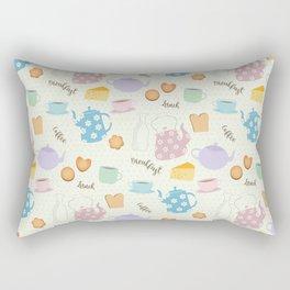 Breakfast Lunch Coffee Rectangular Pillow