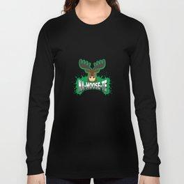 namaste yoga shirts funny moose gift Long Sleeve T-shirt