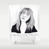 florence Shower Curtains featuring Florence by ☿ cactei ☿