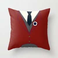 enjolras Throw Pillows featuring Enjolras by KittenBlaine