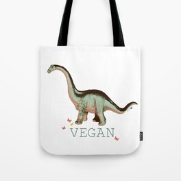 vegan dino: say what?? Tote Bag