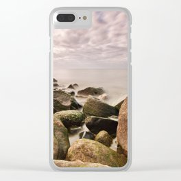Stones on the Baltic Sea coast Clear iPhone Case