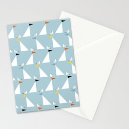 Seagulls and Sails Blue Stationery Cards