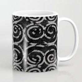 Frosty Black and White Pattern Coffee Mug
