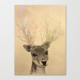 Electro-deer Canvas Print