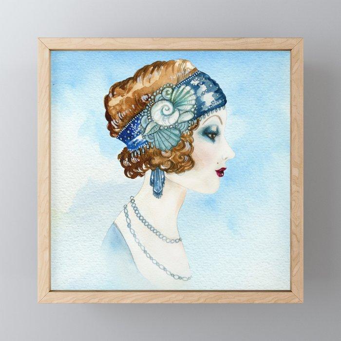 Art Deco Portrait Framed Mini Art Print