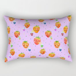 Drinking Strawberry Rectangular Pillow