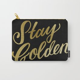 Stay Golden (Black & Gold) Carry-All Pouch