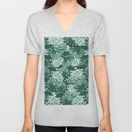 Succulents Pattern #1 #GreenVibes #decor #art #society6 Unisex V-Neck