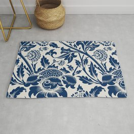 Retro leaves pattern for fine home decoration. Rug