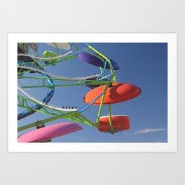Carnival Ride Art Print