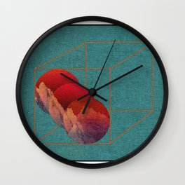 Mountains Under a Blood-Red Sky  Wall Clock