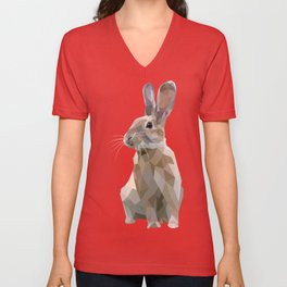 BROWN RABBIT Unisex V-Neck