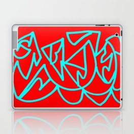 Red blue turquoise gar Laptop & iPad Skin