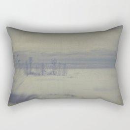 Island in the snow Rectangular Pillow