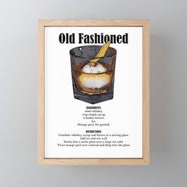 Old Fashioned - Classic Cocktail Recipe Framed Mini Art Print