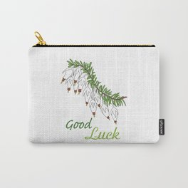 heather white flower Carry-All Pouch