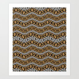 Modern Wavy Geometric Pattern Art Print