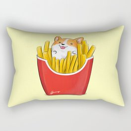 French Corgi Fries Rectangular Pillow