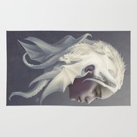 mother Area & Throw Rugs featuring Mother of Dragons by Artgerm™