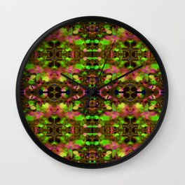 Painterly Plaid Wall Clock