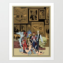 The League of Extraordinary David Bowies Art Print