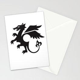 dragon - black Stationery Cards