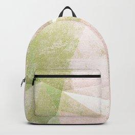 Frozen Geometry - Pink & Green Backpack