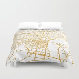 PHILADELPHIA PENNSYLVANIA CITY STREET MAP ART Duvet Cover
