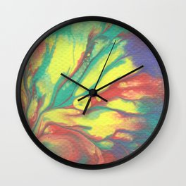 Paint Pouring 56 Wall Clock