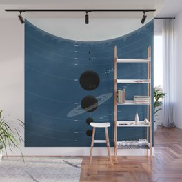 The Worlds (Blue) Wall Mural