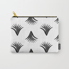 Pandanus Leaf Pattern - Black Carry-All Pouch