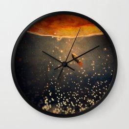 toward the sun Wall Clock