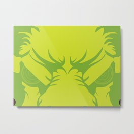 Bison Witch Metal Print