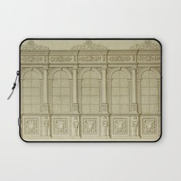 Classical Library Architecture Laptop Sleeve